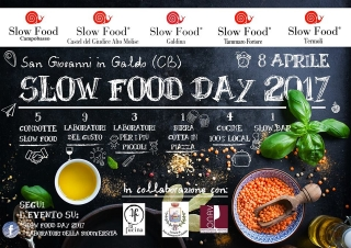 Slow Food Day 2017. Mangiar sano e divertimento in programma a San Giovanni in Galdo